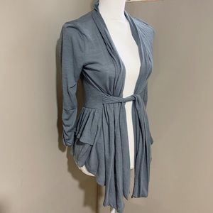 Blue-Gray Ruffle Cardigan
